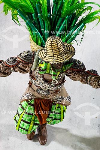 Desfile do Grêmio Recreativo Escola de Samba Acadêmicos do Grande Rio - Mestre-sala - Enredo 2014 - Verdes olhos de maysa sobre o mar, no caminho: Maricá  - Rio de Janeiro - Rio de Janeiro (RJ) - Brasil