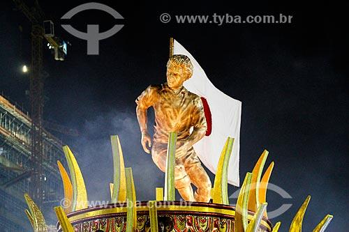 Desfile do Grêmio Recreativo Escola de Samba Imperatriz Leopoldinense - Carro alegórico - Enredo 2014 - Arthur X  O Reino do Galinho de Ouro na corte da Imperatriz  - Rio de Janeiro - Rio de Janeiro (RJ) - Brasil