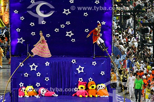 Desfile do Grêmio Recreativo Escola de Samba União da Ilha do Governador - Comissão de frente - Enredo 2014 - É brinquedo, é brincadeira. A Ilha vai levantar poeira!  - Rio de Janeiro - Rio de Janeiro (RJ) - Brasil