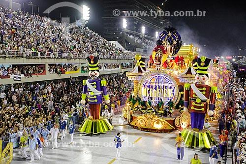 Desfile do Grêmio Recreativo Escola de Samba União da Ilha do Governador - Carro alegórico - Enredo 2014 - É brinquedo, é brincadeira. A Ilha vai levantar poeira!  - Rio de Janeiro - Rio de Janeiro (RJ) - Brasil