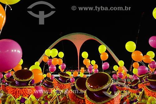 Balões no desfile do Grêmio Recreativo Escola de Samba União da Ilha do Governador - Enredo 2014 - É brinquedo, é brincadeira. A Ilha vai levantar poeira!  - Rio de Janeiro - Rio de Janeiro (RJ) - Brasil