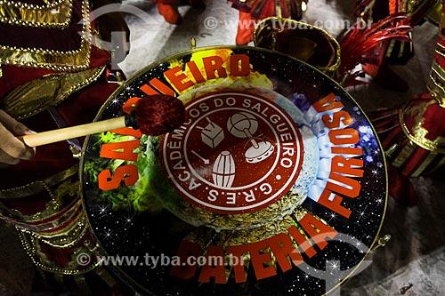 Desfile do Grêmio Recreativo Escola de Samba Acadêmicos do Salgueiro - Bateria - Enredo 2014 - Gaia - a vida em nossas mãos  - Rio de Janeiro - Rio de Janeiro (RJ) - Brasil