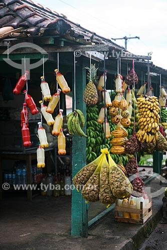 Mercadorias à venda em mercearia  - Bragança - Pará (PA) - Brasil