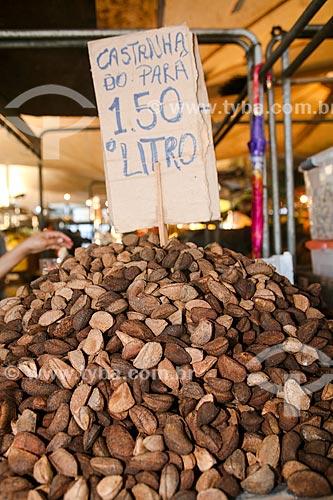 Castanha-do-Pará à venda no Mercado Ver-o-peso  - Belém - Pará (PA) - Brasil