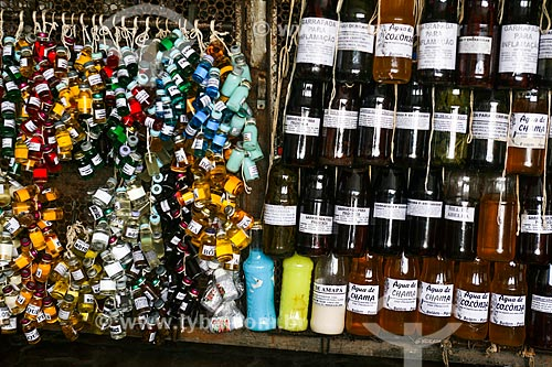 Garrafadas no Mercado Ver-o-peso - Feira do Feitiço  - Belém - Pará (PA) - Brasil