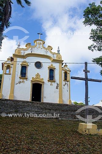 Fachada da Igreja de Nossa Senhora dos Remédios (1506) - onde foi realizada a primeira missa em ambiente fechado no Brasil  - Fernando de Noronha - Pernambuco (PE) - Brasil