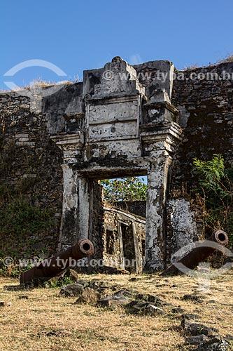Ruínas do Forte de Nossa Senhora dos Remédios (1737)  - Fernando de Noronha - Pernambuco (PE) - Brasil
