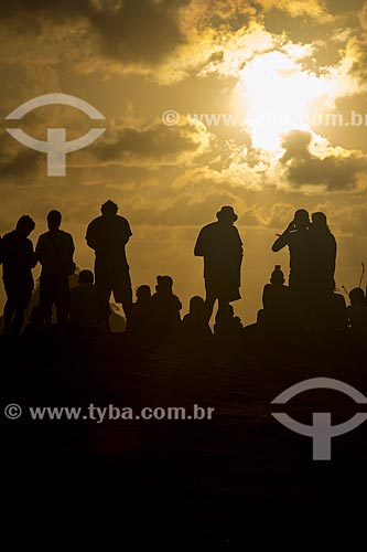 Pôr do sol no Mirante do Boldró  - Fernando de Noronha - Pernambuco (PE) - Brasil