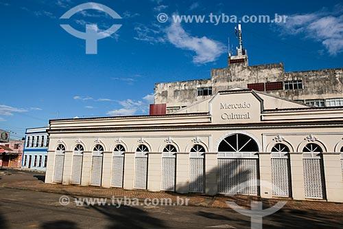 Fachada do Mercado Cultural (2009) - antigo prédio do Mercado Público de Porto Velho  - Porto Velho - Rondônia (RO) - Brasil