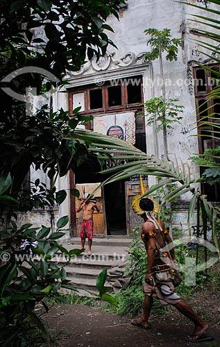 Entrada do antigo prédio do Museu do Índio (1862)  - Rio de Janeiro - Rio de Janeiro (RJ) - Brasil
