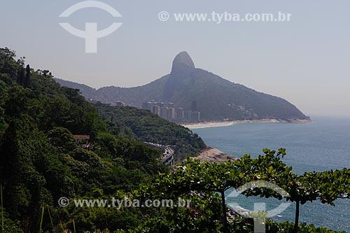 Vista do Elevado do Joá (1972) com Praia de São Conrado e Morro Dois Irmãos ao fundo  - Rio de Janeiro - Rio de Janeiro (RJ) - Brasil