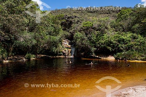 Banhistas no Lago do Espelho no Parque Estadual do Ibitipoca  - Lima Duarte - Minas Gerais (MG) - Brasil
