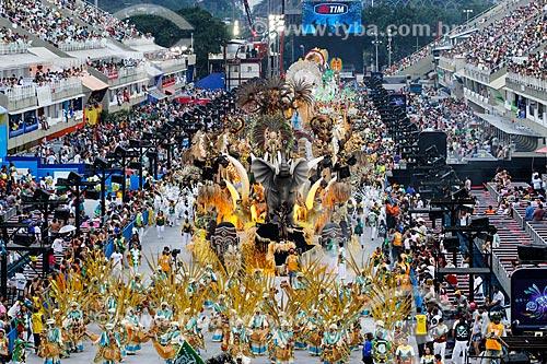 Desfile do Grêmio Recreativo Escola de Samba Acadêmicos do Cubango - Carro alegórico - Enredo 2014 - Continente negro: uma epopéia africana  - Rio de Janeiro - Rio de Janeiro (RJ) - Brasil