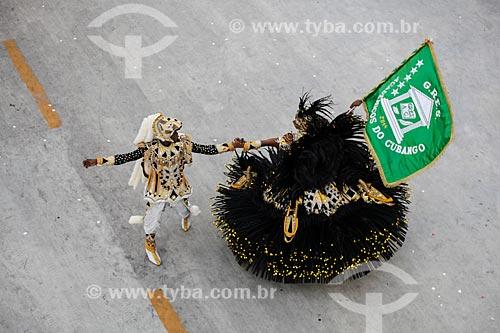 Desfile do Grêmio Recreativo Escola de Samba Acadêmicos do Cubango - Casal de Mestre-sala e Porta-Bandeira - Enredo 2014 - Continente negro: uma epopéia africana  - Rio de Janeiro - Rio de Janeiro (RJ) - Brasil
