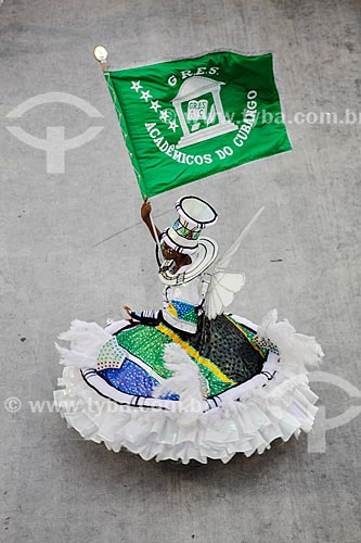 Desfile do Grêmio Recreativo Escola de Samba Acadêmicos do Cubango - Porta-Bandeira - Enredo 2014 - Continente negro: uma epopéia africana  - Rio de Janeiro - Rio de Janeiro (RJ) - Brasil