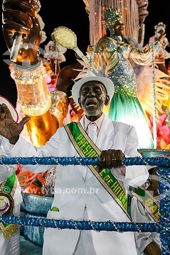Desfile do Grêmio Recreativo Escola de Samba Estação Primeira de Mangueira - Detalhe de Nelson Sargento na Velha Guarda  - Rio de Janeiro - Rio de Janeiro (RJ) - Brasil