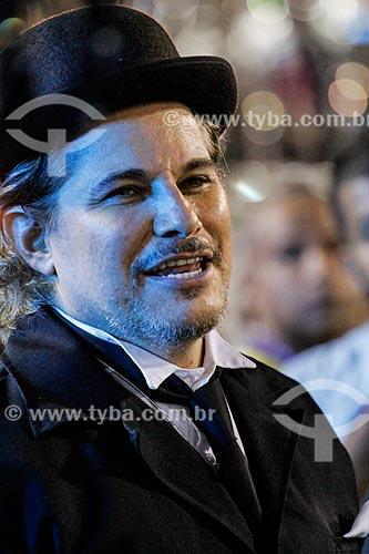 Ator Edson Celulari durante o desfile do Grêmio Recreativo Escola de Samba Beija-Flor de Nilópolis  - Rio de Janeiro - Rio de Janeiro (RJ) - Brasil