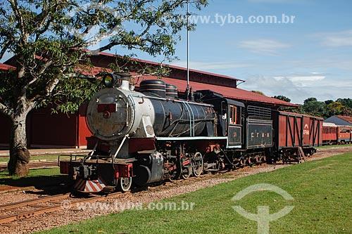 Locomotiva no Museu da Estrada de Ferro Madeira-Mamoré  - Porto Velho - Rondônia (RO) - Brasil