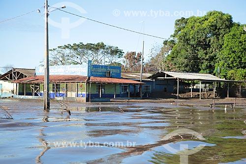 Rua do centro de Porto Velho alagada devido à cheia do Rio Madeira  - Porto Velho - Rondônia (RO) - Brasil