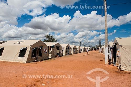 Abrigo para desalojados da cheia do Rio Madeira  - Porto Velho - Rondônia (RO) - Brasil