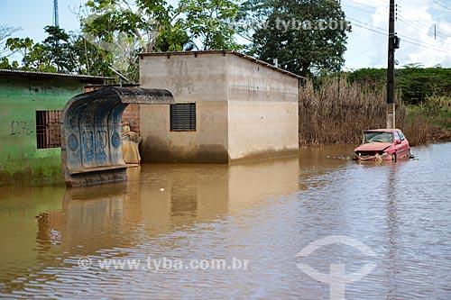 Casas alagadas pela cheia do Rio Madeira  - Porto Velho - Rondônia (RO) - Brasil