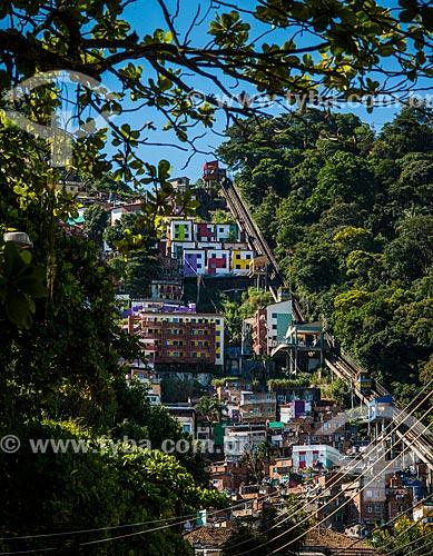 Vista da Favela Santa Marta  - Rio de Janeiro - Rio de Janeiro (RJ) - Brasil