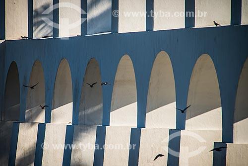 Detalhe dos Arcos da Lapa (1750)  - Rio de Janeiro - Rio de Janeiro (RJ) - Brasil