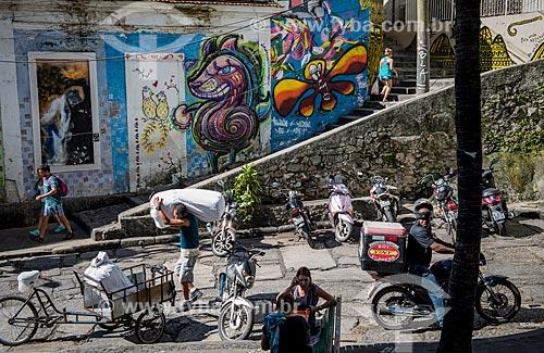 Grafite na Pedra do Sal - também conhecido como Largo João da Baiana  - Rio de Janeiro - Rio de Janeiro (RJ) - Brasil