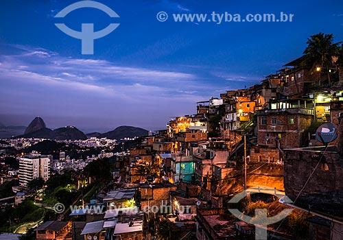 Entardecer Morro dos Prazeres com o Pão de Açúcar ao fundo  - Rio de Janeiro - Rio de Janeiro (RJ) - Brasil