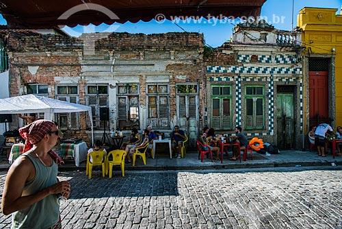 Mesas de bar na Ladeira do João Homem - Morro da Conceição  - Rio de Janeiro - Rio de Janeiro (RJ) - Brasil