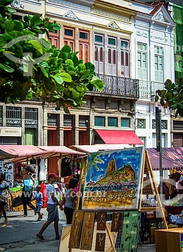 Quadro à venda na Feira Rio Antigo na Rua do Lavradio  - Rio de Janeiro - Rio de Janeiro (RJ) - Brasil