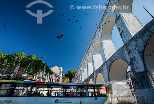 Vista geral dos Arcos da Lapa (1750)  - Rio de Janeiro - Rio de Janeiro (RJ) - Brasil