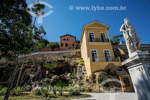 Estátua no Jardim Suspenso do Valongo  - Rio de Janeiro - Rio de Janeiro (RJ) - Brasil