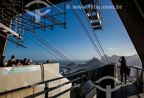 Turistas na estação do bondinho do Pão de Açúcar  - Rio de Janeiro - Rio de Janeiro (RJ) - Brasil