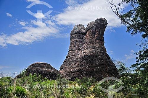 A Bota - formação de arenito do Parque Estadual de Vila Velha  - Ponta Grossa - Paraná (PR) - Brasil
