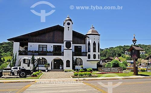 Fachada da Prefeitura da cidade de Treze Tílias  - Treze Tílias - Santa Catarina (SC) - Brasil