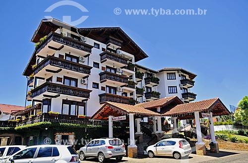 Fachada do Hotel Tirol  - Treze Tílias - Santa Catarina (SC) - Brasil
