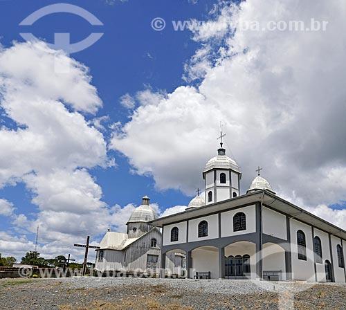 Igreja de São Pedro e São Paulo - templo novo - com o antigo ao fundo  - Itaiópolis - Santa Catarina (SC) - Brasil