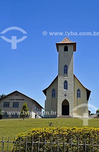 Templo da Igreja luterana  - Dona Emma - Santa Catarina (SC) - Brasil