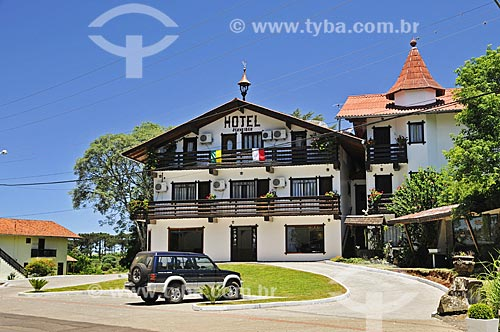 Fachada do Hotel Schneider  - Treze Tílias - Santa Catarina (SC) - Brasil