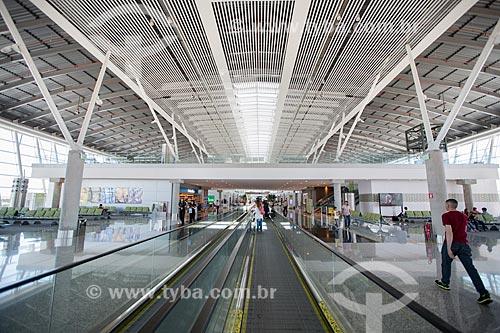 Área de desembarque do novo terminal (Píer Sul) do Aeroporto Internacional Juscelino Kubitschek  - Brasília - Distrito Federal (DF) - Brasil