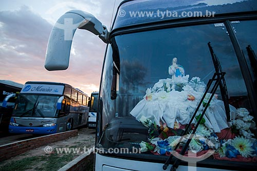 Ônibus de romeiros em Juazeiro do Norte  - Juazeiro do Norte - Ceará (CE) - Brasil