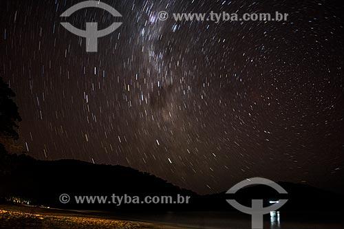 Praia do Sono e céu estrelado  - Paraty - Rio de Janeiro (RJ) - Brasil