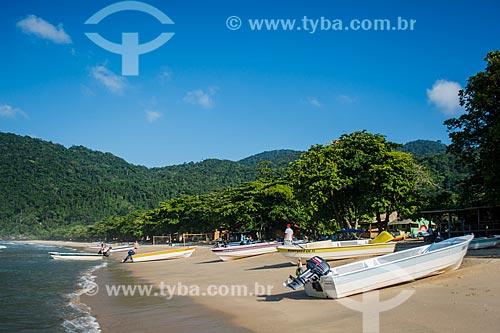 Barcos de turismo na Praia do Sono  - Paraty - Rio de Janeiro (RJ) - Brasil
