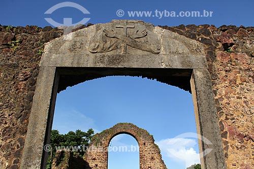 Detalhe das ruínas da Igreja de São Francisco de Assis  - Alcântara - Maranhão (MA) - Brasil
