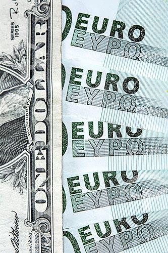 Cédulas de Euro e Dólar   - Rio de Janeiro - Rio de Janeiro (RJ) - Brasil