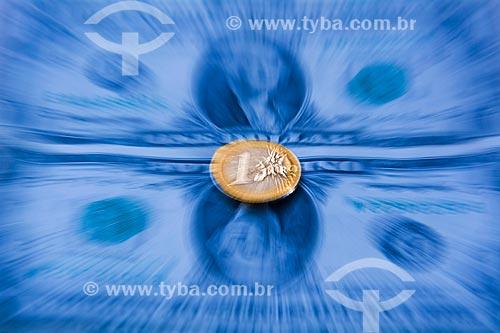 Cédulas de Dólar e moeda de Euro  - Rio de Janeiro - Rio de Janeiro (RJ) - Brasil
