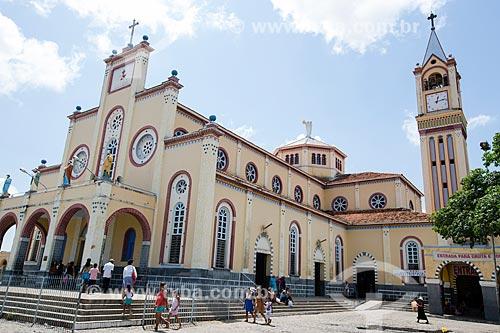 Fachada do Santuário de São Francisco das Chagas (1950)  - Juazeiro do Norte - Ceará (CE) - Brasil