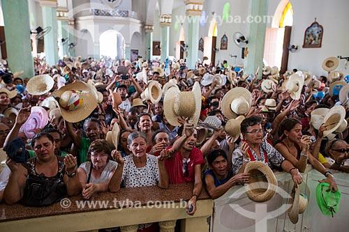 Missa de despedida dos romeiros na Basílica Santuário de Nossa Senhora das Dores durante a Romaria de Nossa Senhora das Candeias  - Juazeiro do Norte - Ceará (CE) - Brasil