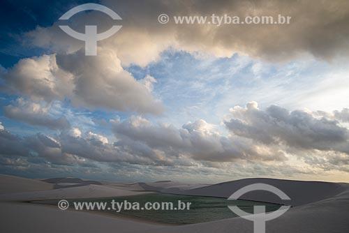 Lagoa no Parque Nacional dos Lençóis Maranhenses  - Santo Amaro do Maranhão - Maranhão (MA) - Brasil